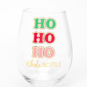 Ho Ho Ho Whole Bottle Wine Glass,
