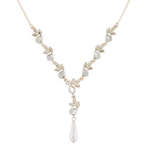 Ice Teardrop Statement Necklace,