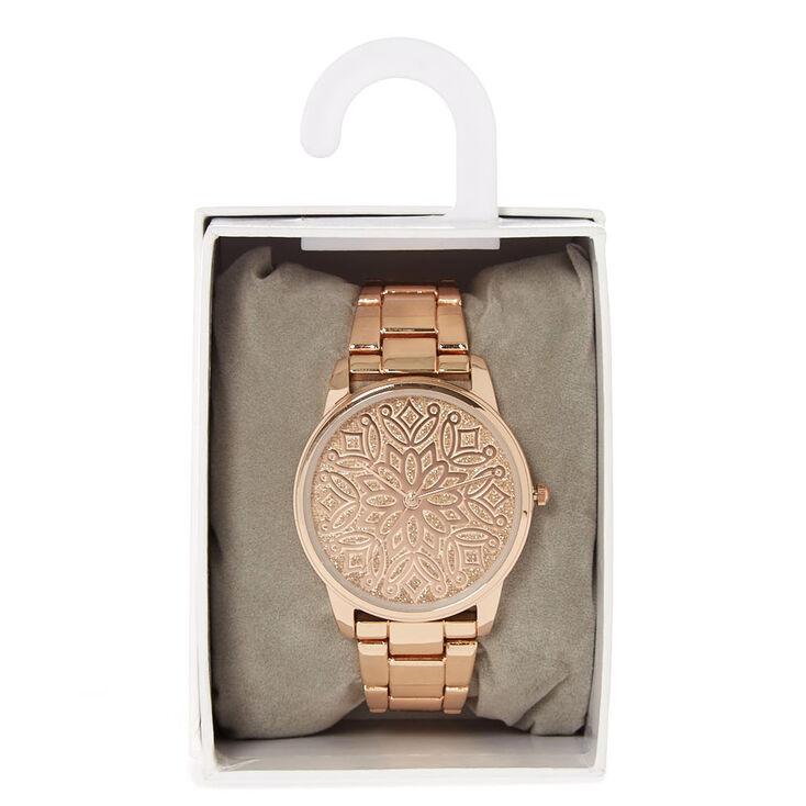 Rose Gold Filigree Design Watch,