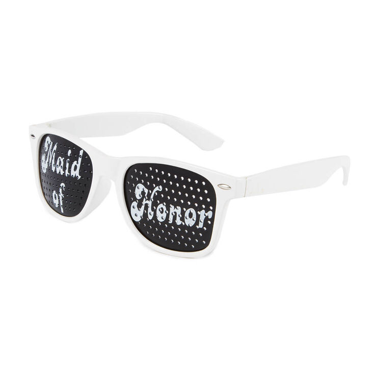 Maid of Honor Perforated Lens Sunglasses,