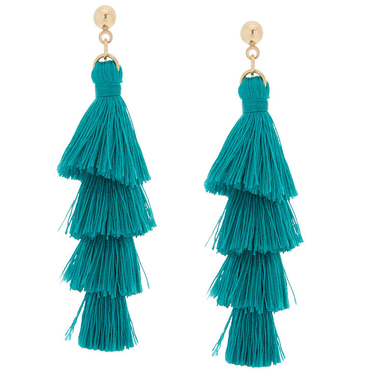 product usa topshop stud tsus earrings drop tassel green f en