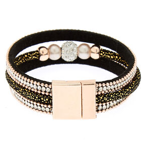 Embellished Fireball Statement Bracelet - Black,