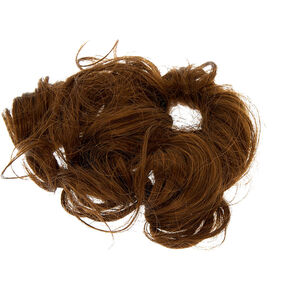 Curly Faux Hair Tie - Brown,
