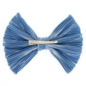 Pleated Tie Dye Bow - Blue,