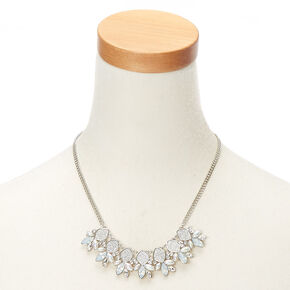 Silver Mermaid Glitter Statement Necklace,