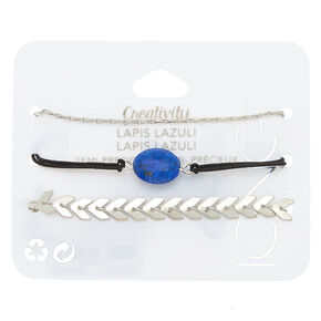 Lapis Lazuli Creativity Chain Bracelets - 3 Pack,