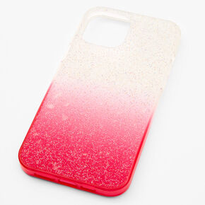 Bright Pink Ombre Caviar Glitter Phone Case - Fits iPhone 12 Pro Max,