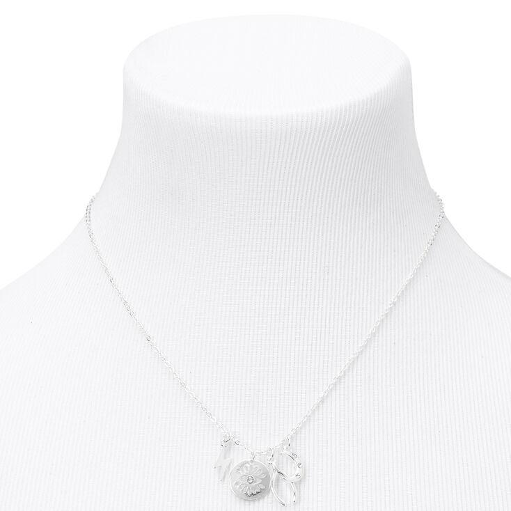 Silver Mystical Symbols Pendant Necklace,