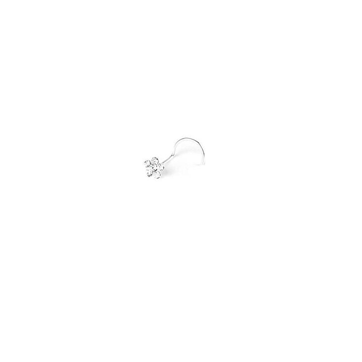 Sterling Silver 20G Daisy Nose Ring,