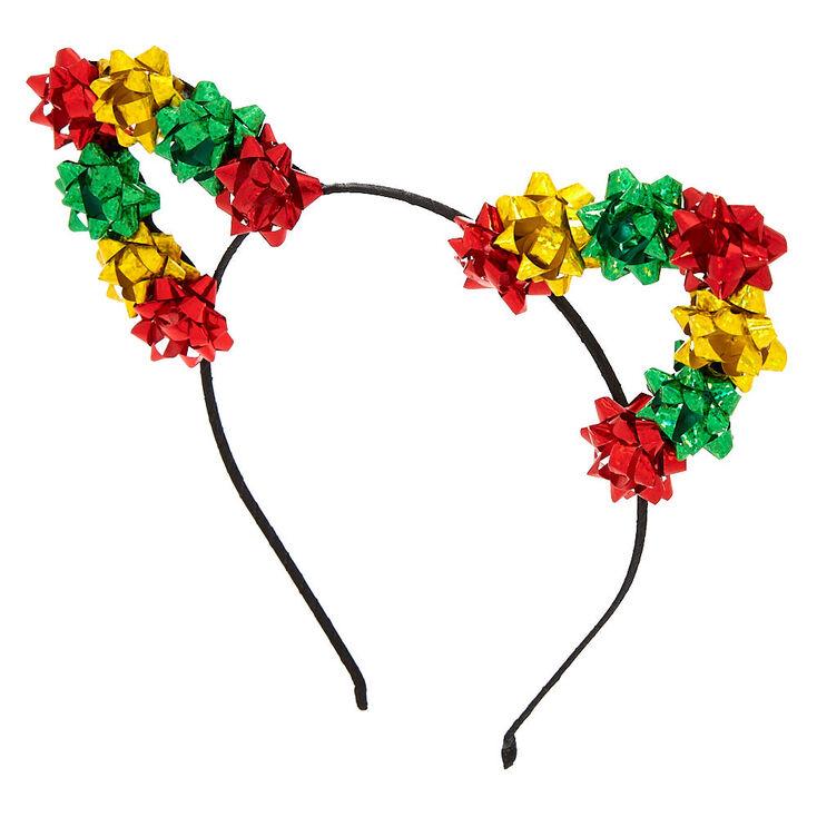Christmas Bows Cat Ears Headband,