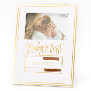 Baby's First Photo Frame - White,