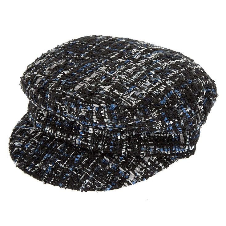 Tweed Captain Hat - Black,