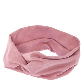 Mauve Wide Jersey Headwrap,