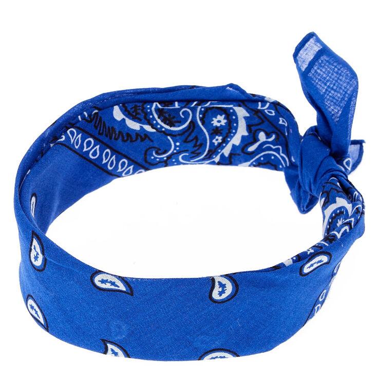 Royal Blue Paisley Bandana Headwrap,