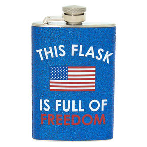 This Flask Is Full of Freedom Flask - Blue,