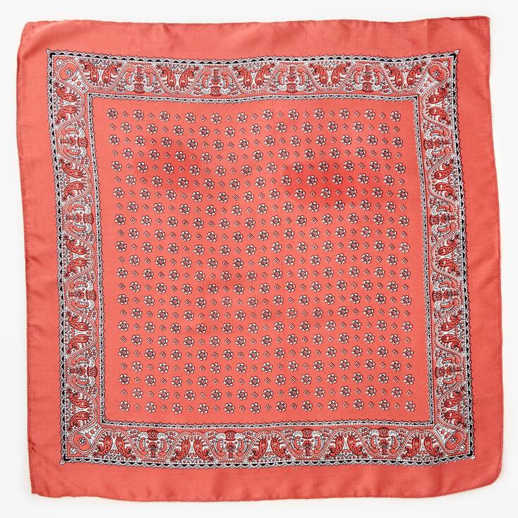 Floral Paisley Silky Bandana Headwrap - Blush Pink,
