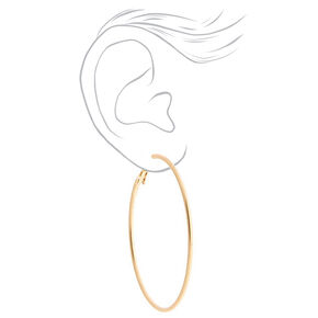 Gold Graduated Tortoiseshell Hoop Earrings - Brown, 3 Pack,
