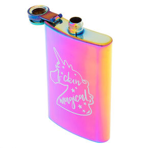 Anodized F*ckin Magical Unicorn Flask - Rainbow,