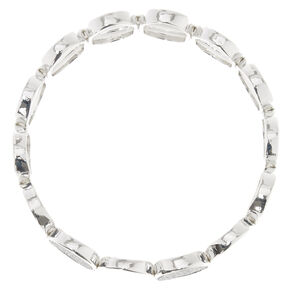 Silver-Tone Disc Stretch Bracelet,