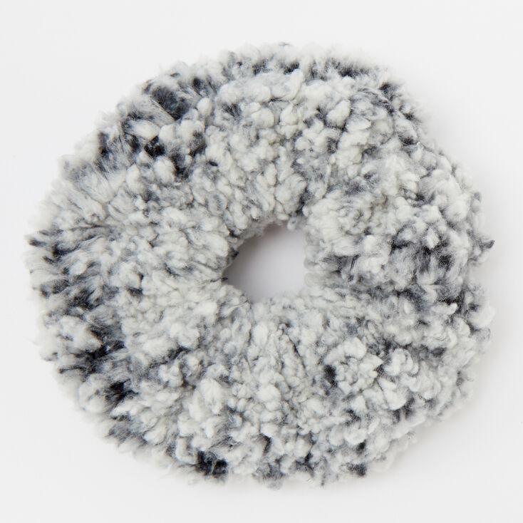 Medium Teddy Hair Scrunchie - Black,