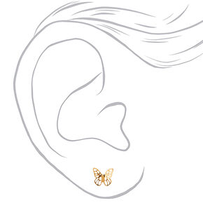18kt Gold Plated Butterfly Stud Earrings,