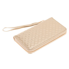Rose Gold Quilted Tech Wallet,