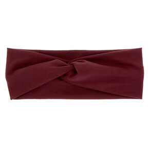 Wide Jersey Twisted Headwrap - Midnight Plum,