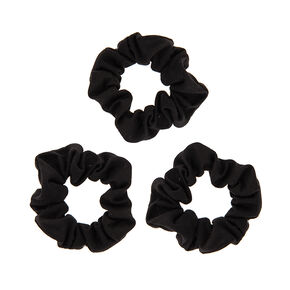 Solid Jersey Hair Scrunchies - Black, 3 Pack,
