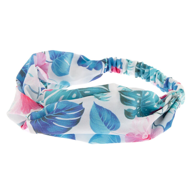 Tropical Knot Headwrap - White,
