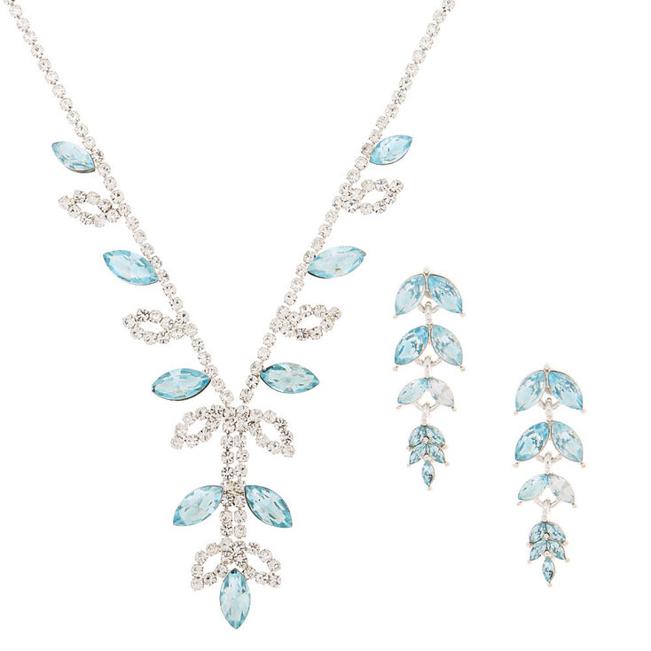 Silver Vine Jewelry Set - Blue, 2 Pack,