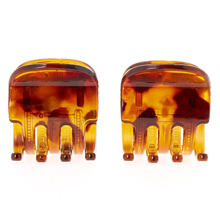 No Slip Tortoise Shell Hair Claws - 2 Pack,
