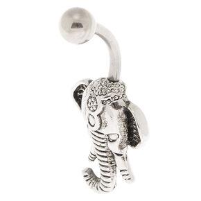 Titanium 14G Elephant Belly Ring,