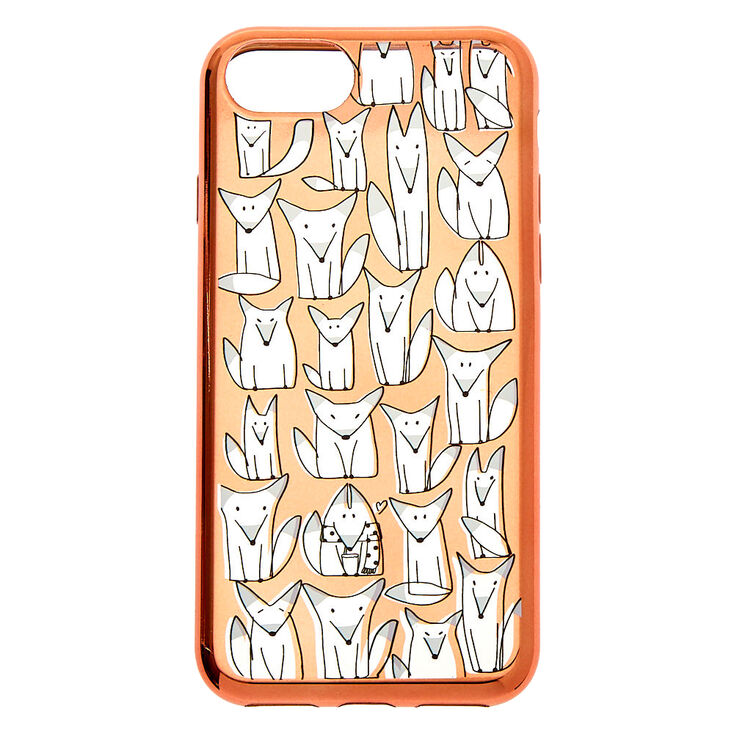Rose Gold Fox Phone Case - Fits iPhone 6/7/8,