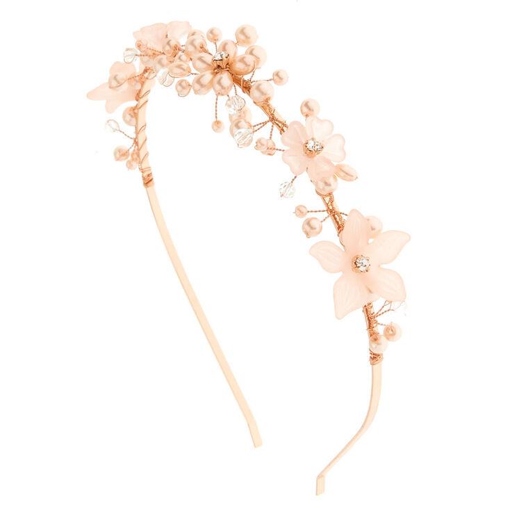 Pink Pearl Flower Headband,