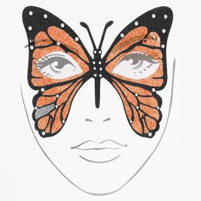 Halloween Glitter Butterfly Face Tattoos - Orange,