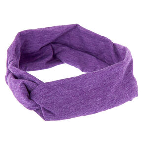 Marled Wide Jersey Headwrap - Purple,