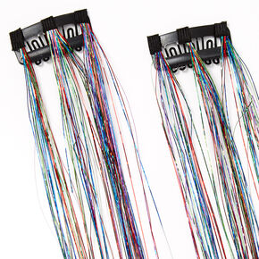 Rainbow Clip In Hair Tinsel - 2 Pack,