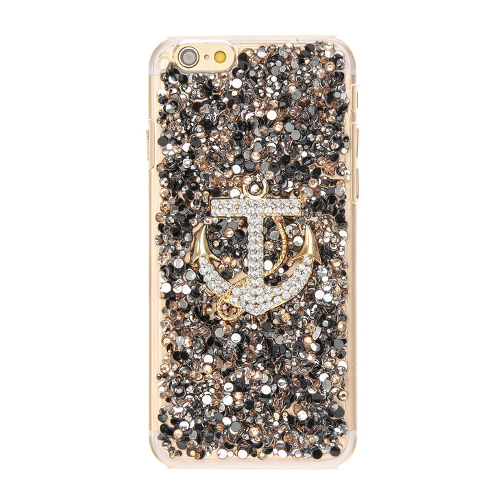 Crystal Embellished Anchor Phone Case - Fits iPhone 6/6S Plus,