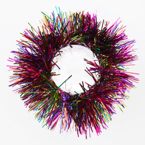 Medium Rainbow Tinsel Hair Scrunchie,