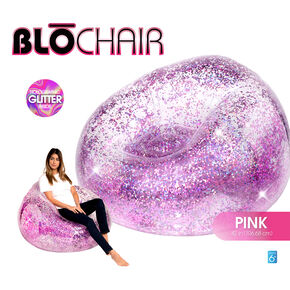 BloChair Glitter Inflatable Chair - Pink,