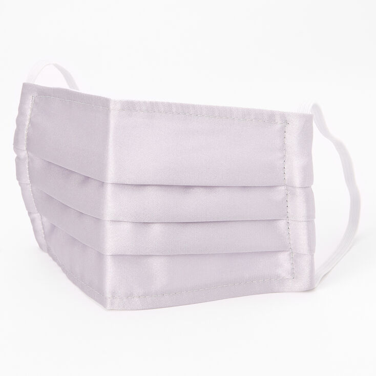 Silver Pleated Cloth Face Mask - Adult,