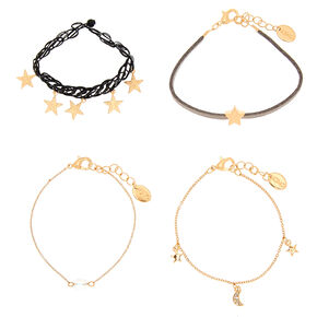 Star and Moon Bracelet Set,