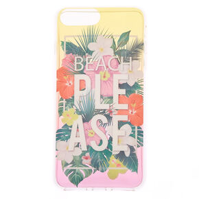 Beach Please Tropical Phone Case - Fits iPhone 6/7/8 Plus,