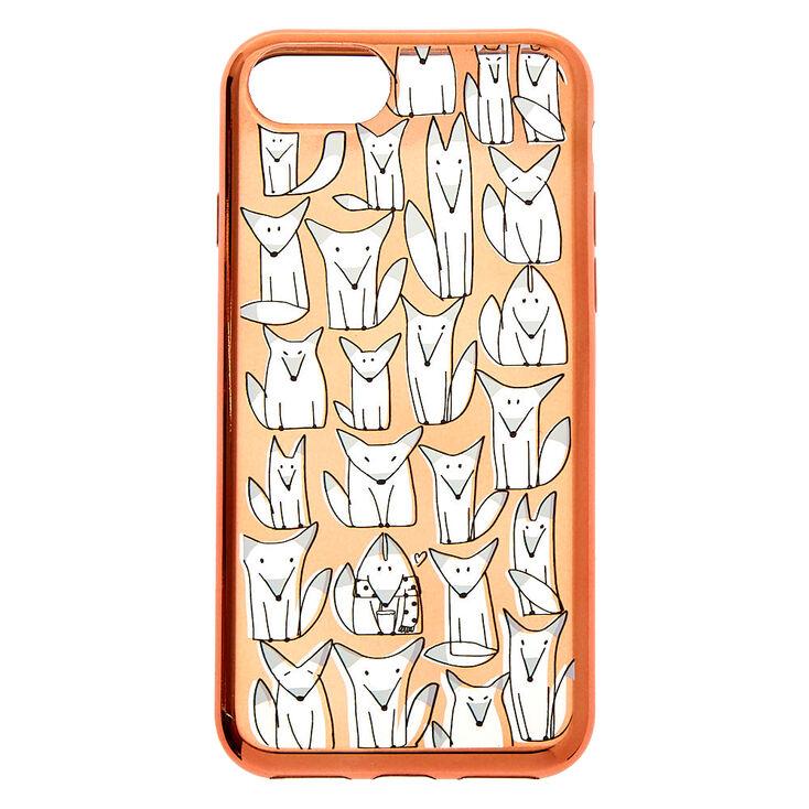 Rose Gold Fox Phone Case - Fits iPhone 6/7/8/SE,