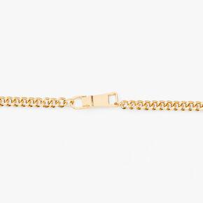 Zipper Choker Chain Necklace - Gold,
