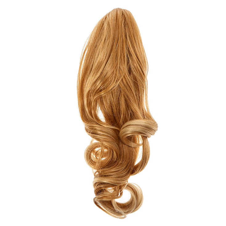 Dark Blonde Short Faux Hair Ponytailer,