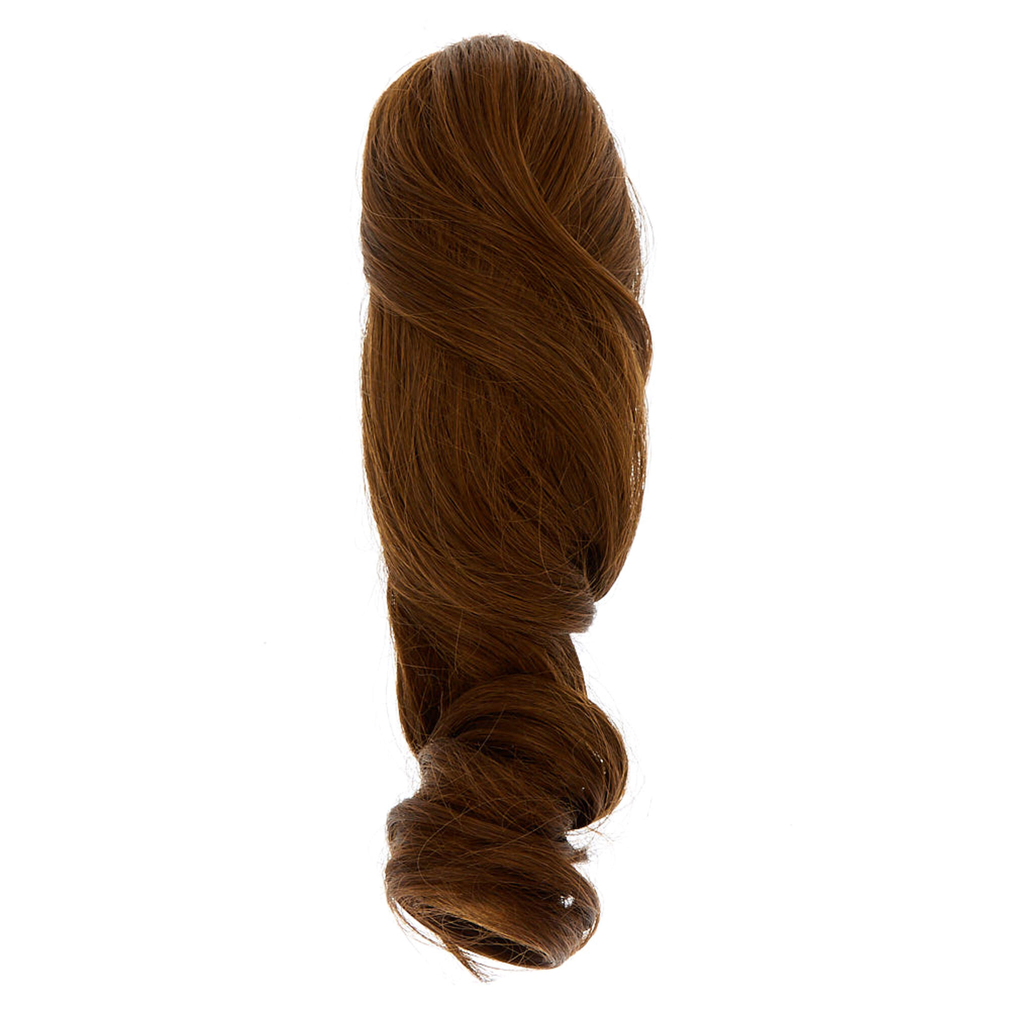 Short Faux Hair Extensions Ponytail Claw Brown Icing Us