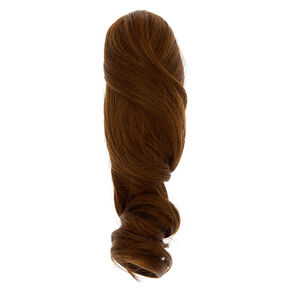 Short Faux Hair Extensions Ponytail Claw - Brown,