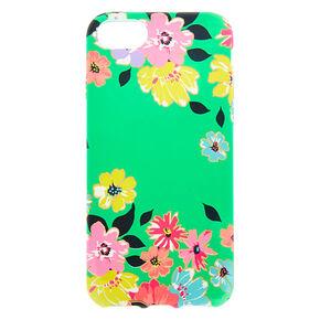 Green Floral Phone Case - Fits Iphone 6/7/8/SE,