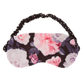 Floral Polka Dot Sleeping Mask - Black,